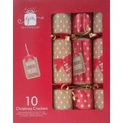 Christmas Kraft & Red Bon Bons (12in.) Pk 10
