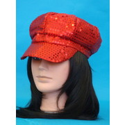 Red Sequin Go Go Hat Pk 1