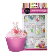 Royal Icing Bunnies with Jelly Bean Edible Cake Decorations Pk 12