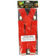 Red Party Suspenders Pk1