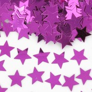 Hot Pink Stars Confetti - 20mm Pk 1 (14g)