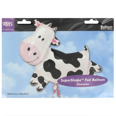 Western Party Balloon - Foil Supershape Cow Pk1
