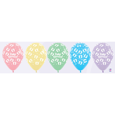 Baby Shower Pastel Multi Latex Balloons Pk 10