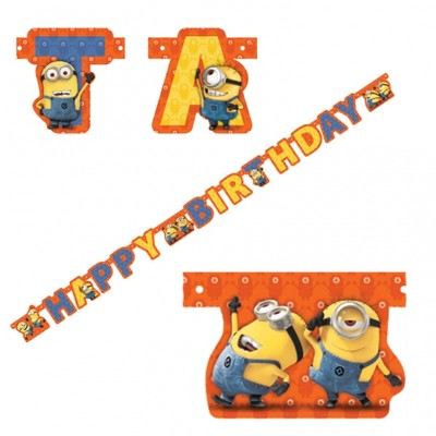 Despicable Me Minions Jointed Party Banner 180cm Pk1